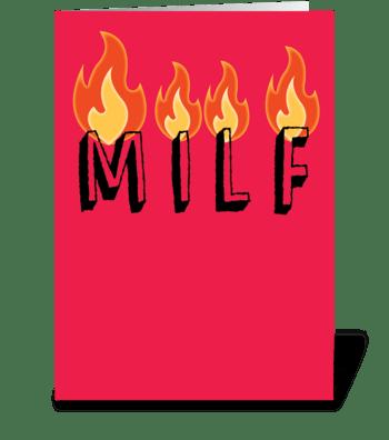 MILF greeting card