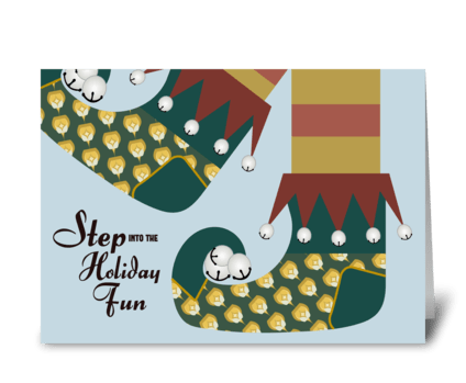 Elf Feet Holiday Fun greeting card