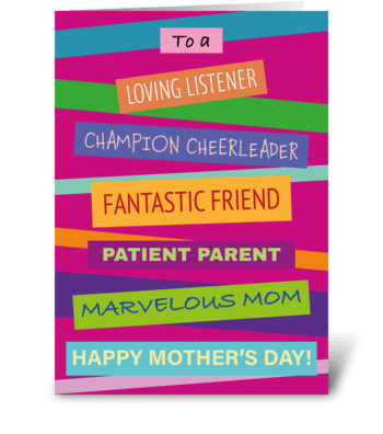 33 Stacked Mother's Day Card greeting card