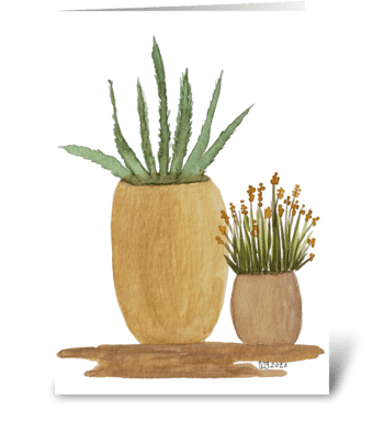 Potted Cacti Cactus Any Occasion greeting card