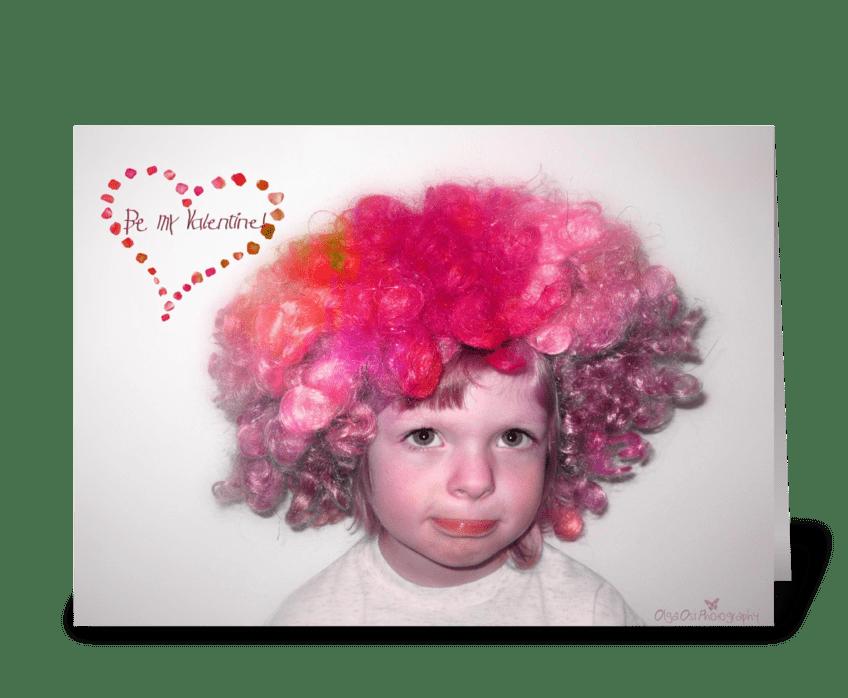 Clown Valentine greeting card