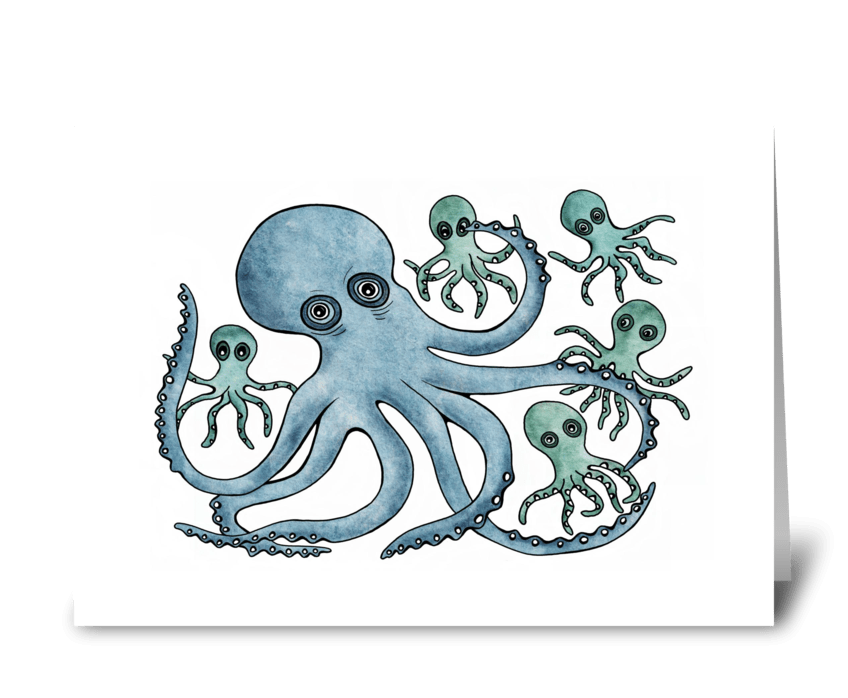 Mr. Octopus greeting card