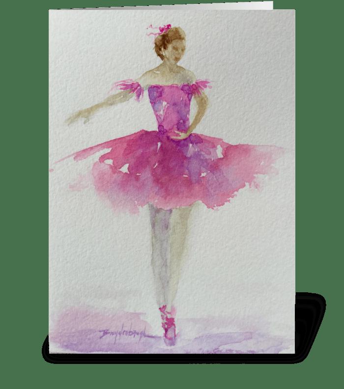 Prima Ballerina  greeting card