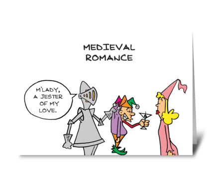Medieval Romance greeting card