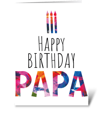 69 Papa Birthday Cake greeting card