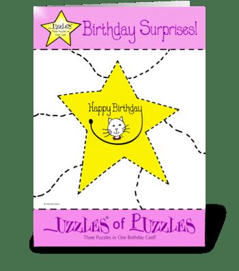 Kitty Cat Birthday Card greeting card