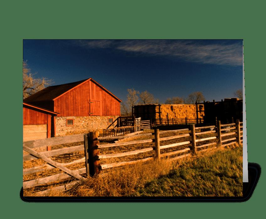 Valmont Barn greeting card
