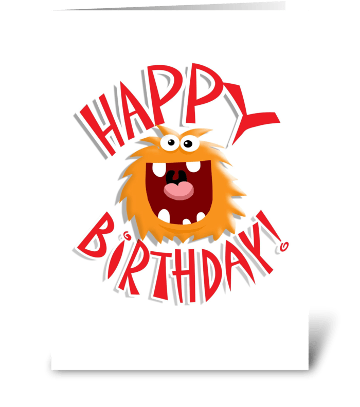 HAPPY MONSTER BIRTHDAY! greeting card