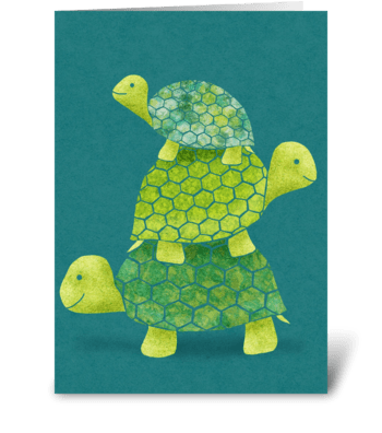 Turtle Stack greeting card