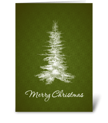 Merry Christmas Holiday Tree greeting card