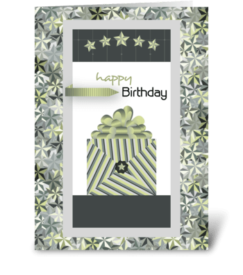 Five Star Birthday  greeting card