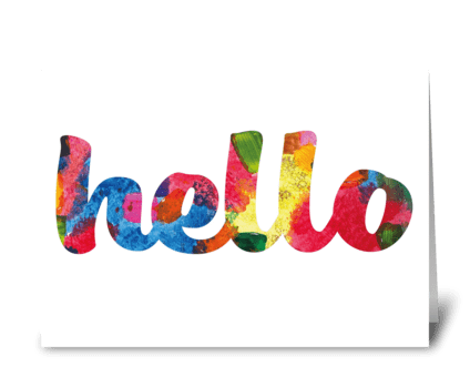 Hello Card greeting card