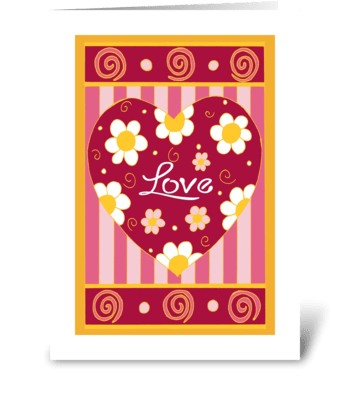 Love Heart One greeting card