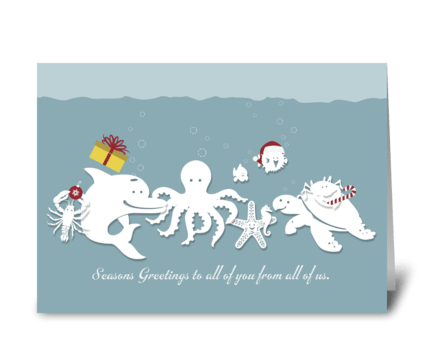 Oceans of Love Holiday Greeting greeting card