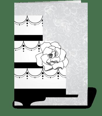 Wedding Grays Cake greeting card