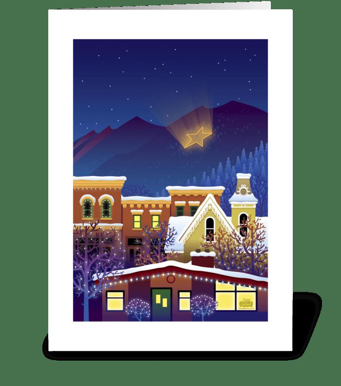 Winter Star greeting card