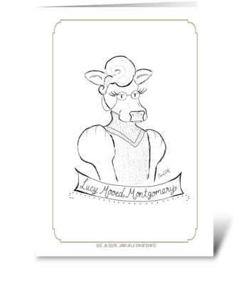 The Author Animalia Collection: Lucy greeting card