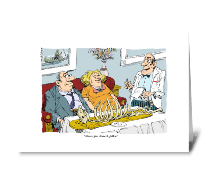 The carrot cake looks great. greeting card
