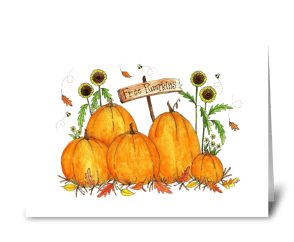 Festive Fall Pumpkin Patch greeting card