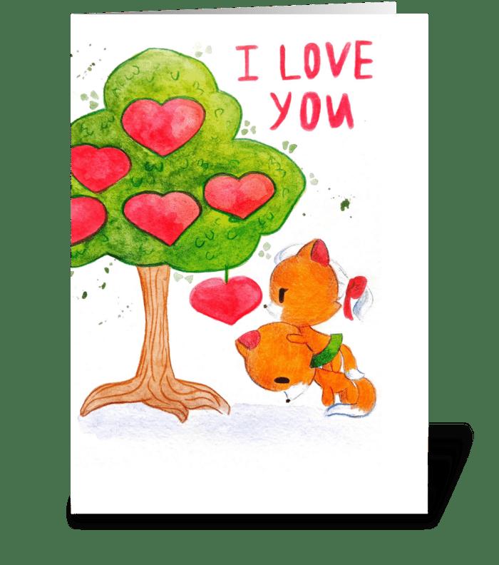 Declaration of love greeting card