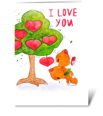 Declaration of love greeting card