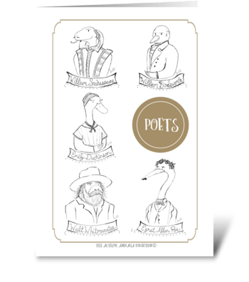 The Author Animalia Collection: Poets greeting card