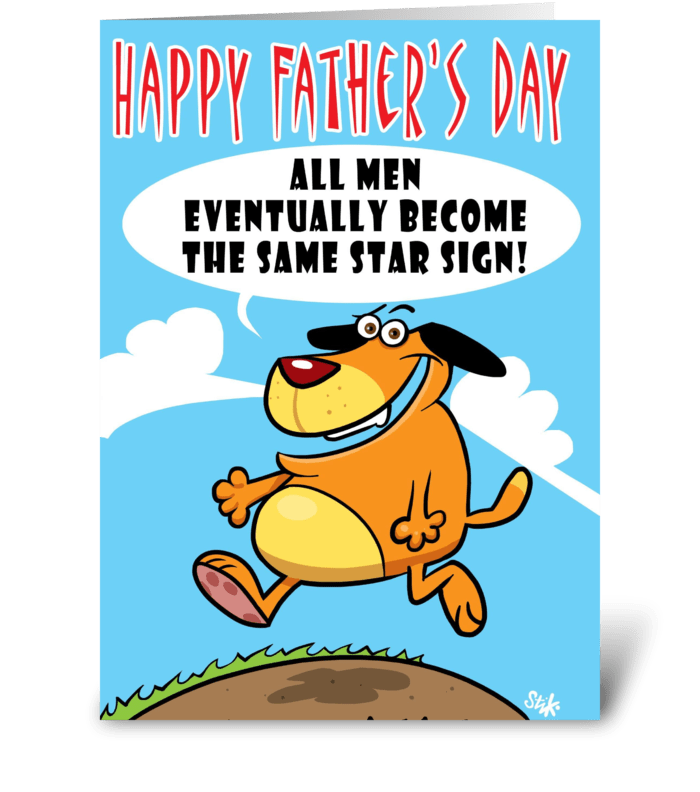 Star Sign Father's Day card greeting card