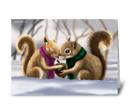 Acorn Love greeting card