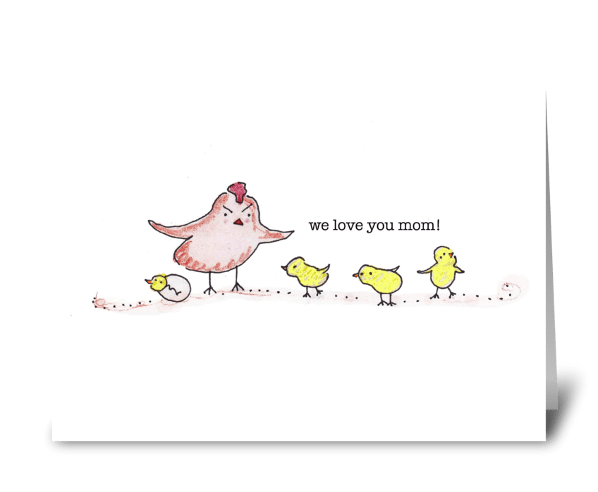 Mother Hen greeting card