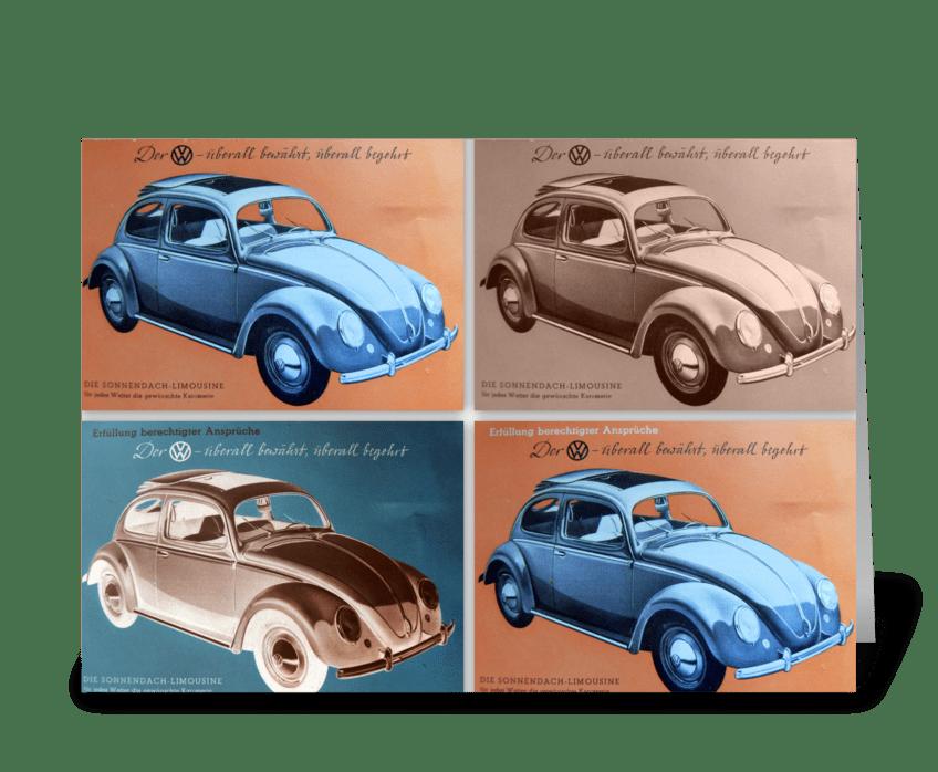 VW Bug Tribute greeting card