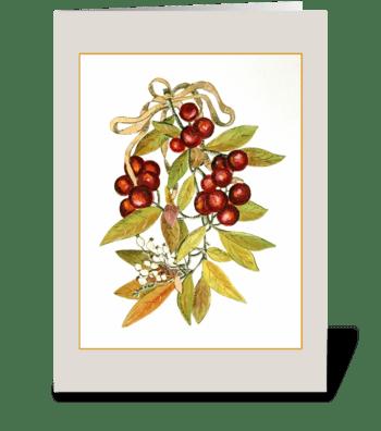 Berries and Laurel greeting card