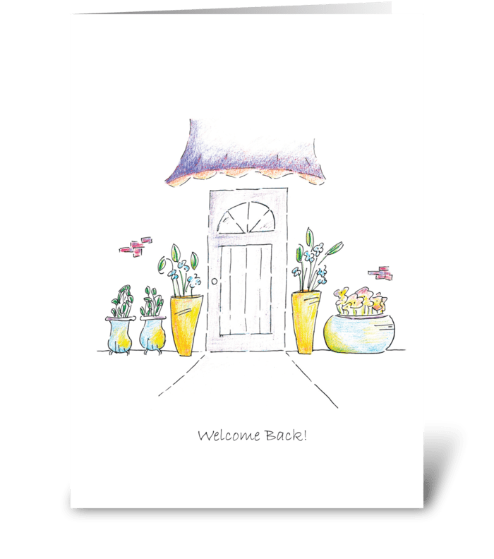 Welcome Back! greeting card