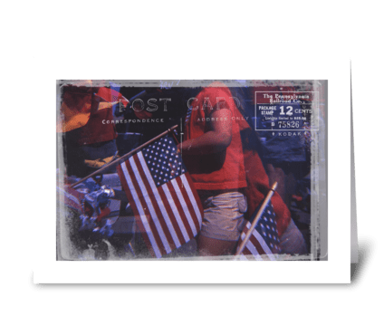 Post Card from the 4th of July greeting card