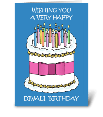 Happy Diwali Birthday. greeting card