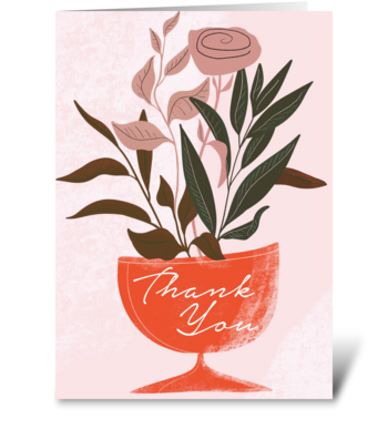 Thank You Vase  greeting card