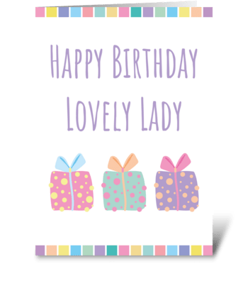 107 Happy Birthday Lovely Lady greeting card