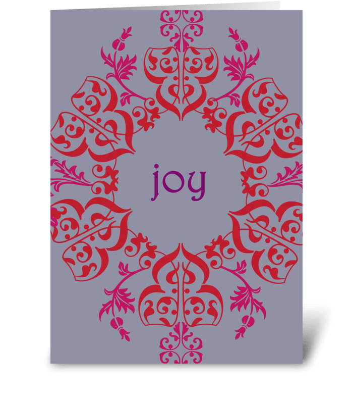 Winter Swirls of Joy greeting card