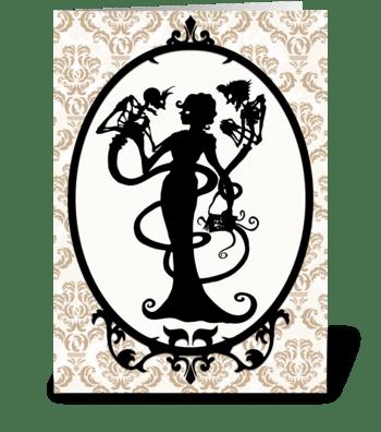 The Warlocks Daughter greeting card