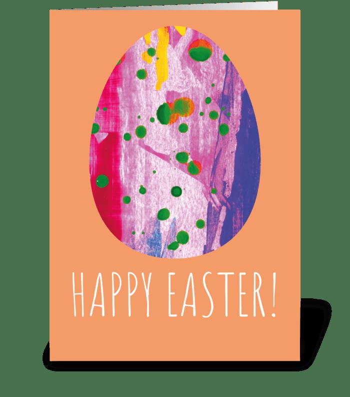 Modern Easter Card greeting card