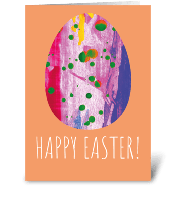 Modern Easter Card greeting card