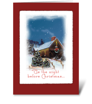 Night Before Christmas greeting card