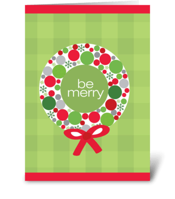Merry wreath greeting card