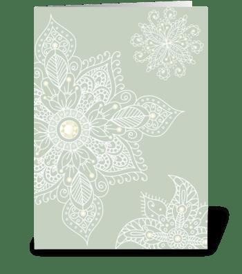 Modern Bazaar 1 Silver greeting card