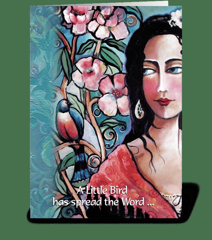 Gypsy Art, Birthday Greeting greeting card
