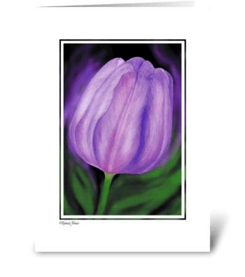 Thinking of You - Purple Tulip greeting card