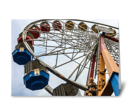 Elitch Gardens Ferris Wheel greeting card
