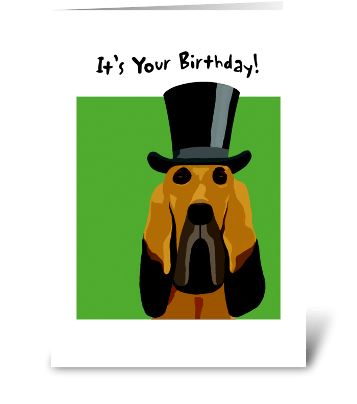 Bloodhound Birthday greeting card