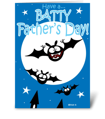 Batty Father's Day! greeting card