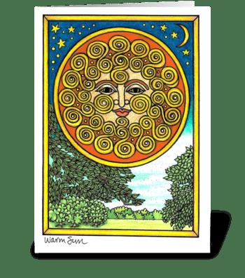 Warm Sun greeting card