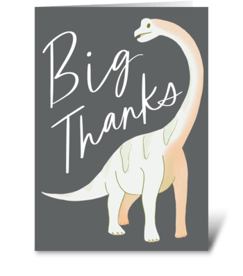 Big Thanks greeting card